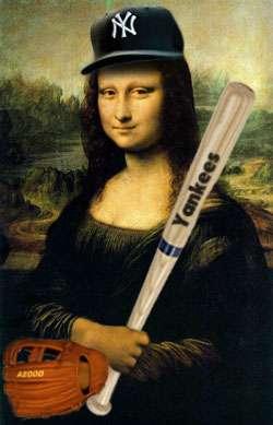 a yankee baseball doodle dandy mona lisa