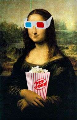 &&3d glasses mona