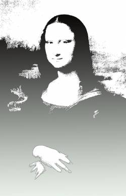 Black and White Mona Lisa