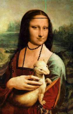 Lady Monalisa with an Ermine