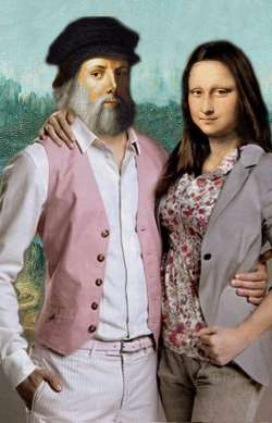 Leonardo and Mona Lisa