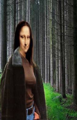 lisa is out for a walk in the forest