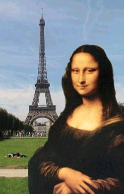 Madame Mona lisa à Paris.