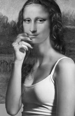 Mona Black and White