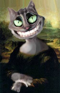 mona cat smiling
