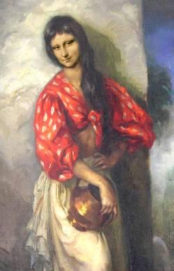 Mona con Blusa Roja