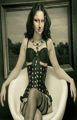 MONA en Corset Noir