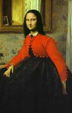 Mona en Rojo y Negro