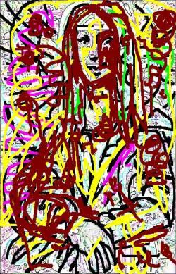 Mona Hommage à Jackson Pollock