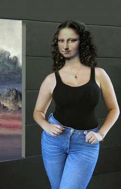 Mona in Blue Jeans