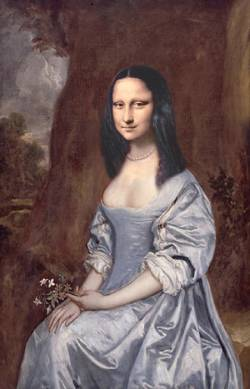Mona in Blue Robe