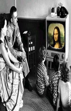 Mona in first color t.v.
