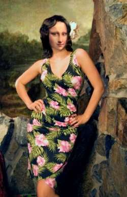 MONA in Hawaian  Dress