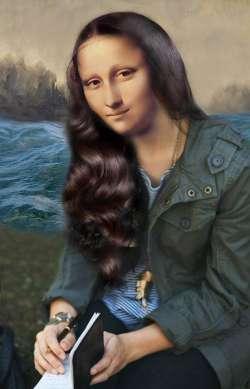 Mona In Her Writing Mood