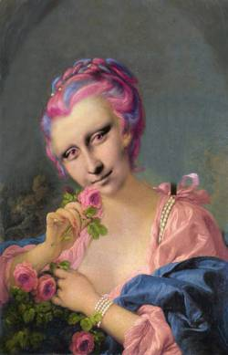 Mona in Pink and Blue