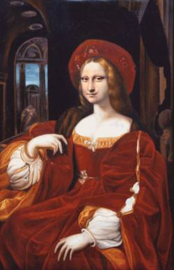 Mona in Red Robe