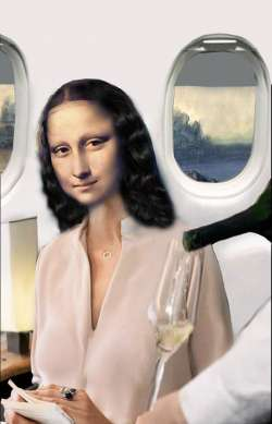 Mona in the Airplane