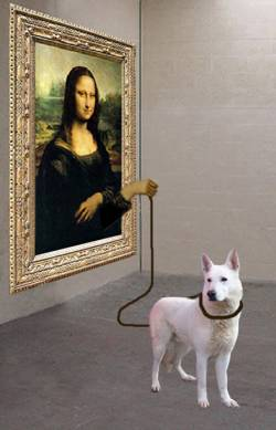 Mona Lisa and her Dog