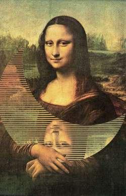 Mona Lisa and moon