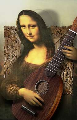 Mona Lisa and ukulele