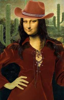 Mona Lisa au Far West