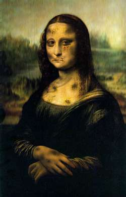 Mona Lisa Beated Up