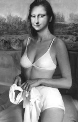 Mona Lisa Bianca Nera