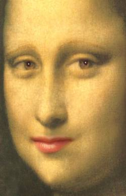 Mona Lisa closeup