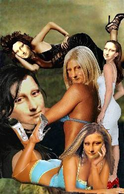 Mona Lisa Collage Models