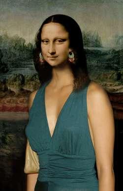 Mona Lisa con Orecchini