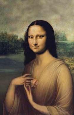 Mona Lisa con Rosa