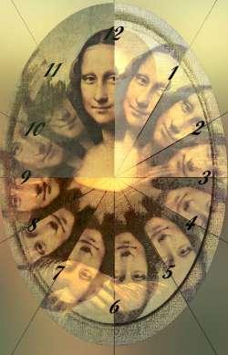 Mona Lisa in clock2