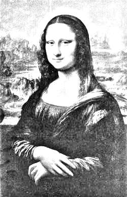 Mona Lisa in pencil