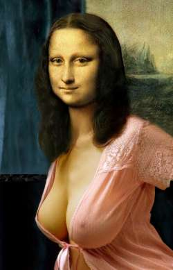 Mona Lisa in Pink Gown