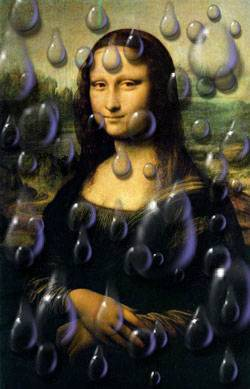 Mona Lisa In rain