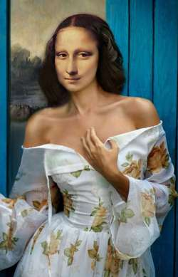 Mona Lisa In Silk