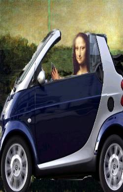 Mona Lisa in Smart car