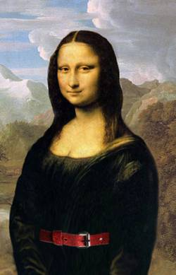 Mona Lisa in the Mountains