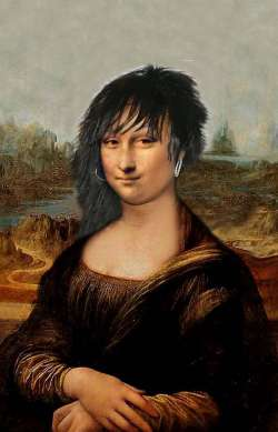 Mona Lisa piece of art V