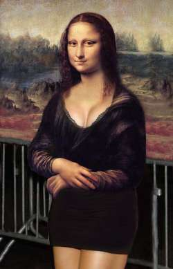 Mona Lisa piece of art VI