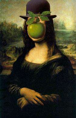 Mona Lisa reinterpreted by Magritte
