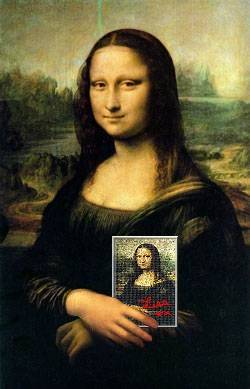 Mona lisa signature