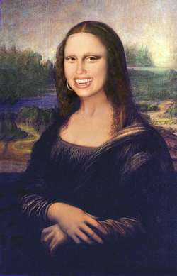 Mona Lisa smiles