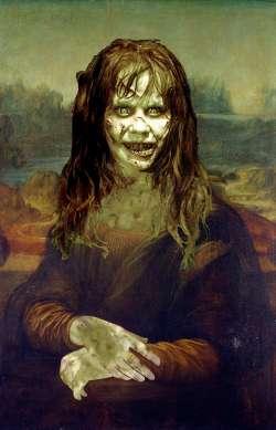 Mona Lisa smiling