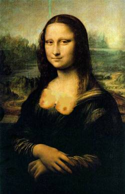 Mona Lisa topless