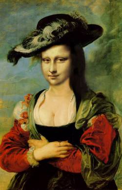 Mona Lisa wearing Hat