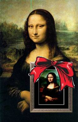 Mona lisa wish you a merry christmas!!