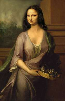 Mona Lisa with Basket