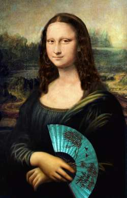 Mona Lisa with Fan