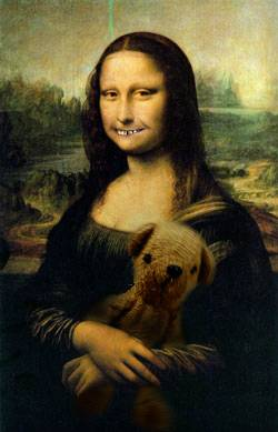mona lisa with her teddy